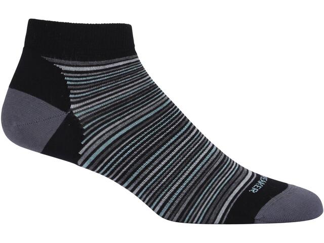 Icebreaker W's Lifestyle Ultra Light Low Cut Multi-Mini Stripe Black